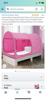 """*BRAND NEW* pink twin bed tent by """"Alvantor"""" in St. Charles, Illinois"""