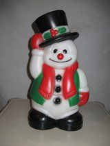 Snowman Blow Mold in Aurora, Illinois