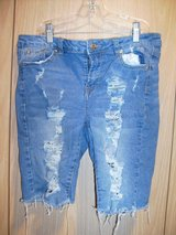 Juniors' Almost Famous Distressed Ripped Cutoff Jean Shorts (T=45) in Fort Campbell, Kentucky