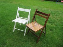wooden folding chairs in Ramstein, Germany