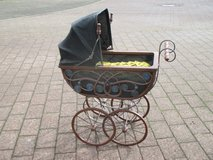 antique baby doll carriage in Ramstein, Germany