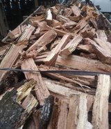Seasoning dried Oak and Hickory in Beaufort, South Carolina