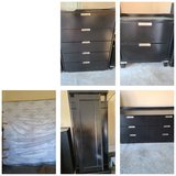 Full Bedroom Set with King Size Boxspring and Matress in Clarksville, Tennessee