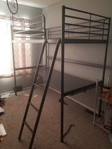 Ikea metal loft bed with desk in Batavia, Illinois