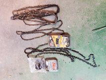 Assortment of chainsaw chains in Fort Knox, Kentucky