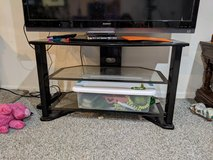 Glass and metal TV stand in Batavia, Illinois