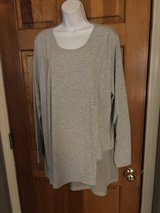 New Soft Surroundings Asymmetrical Tunic with Sheer Chiffon Panel - 2X in St. Charles, Illinois