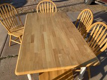 Butcher Block Table with 6 Chairs in Alamogordo, New Mexico
