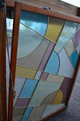 Antique stained glass window with lead glazing in Wiesbaden, GE