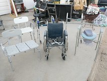 wheelchair,walkers,shower chairs,pottiechair in Yucca Valley, California