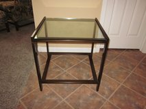 Glass and Iron Side Table in Algonquin, Illinois