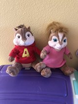 Build-a-Bear Alvin & Brittany Chipmunk pair in Travis AFB, California