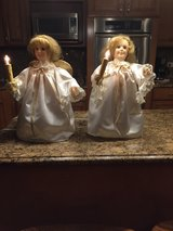 2 angels with lighted candles in Tinley Park, Illinois