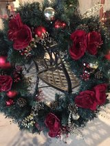 "36"" very full decorated wreath with lights in Naperville, Illinois"