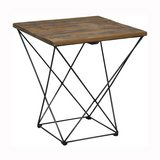 2 Rustic Distressed Natural Wood & Metal Angled Leg Side End Tables Nightstands in Camp Pendleton, California