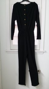 JAN SALE PRICE Size 13/14 - Long Black Jumpsuit in St. Charles, Illinois