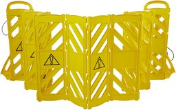 Expandable Mobile Barricade Fence System, Yellow - New! in Bolingbrook, Illinois