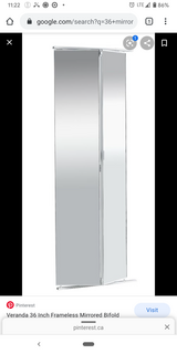 Mirrored closet door -  price reduced in St. Charles, Illinois