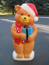 Christmas Bear Blow Mold in Bolingbrook, Illinois