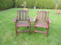 2 sturdy wooden lawn chairs in Ramstein, Germany