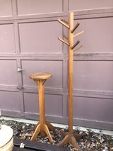 Antique Oak Plant Stand and Clothes Tree in Plainfield, Illinois