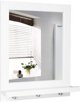 Wall Mirror with Shelf and 3 Hanging Hooks - New - Minor Scratch in Joliet, Illinois