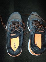 Boys Fila Gym Shoes Size 4 in Naperville, Illinois