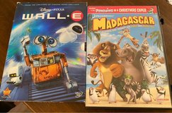 Wall-e/Madagascar DVDs in Plainfield, Illinois