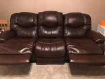 La Z Boy Leather Recliner Sofa in St. Charles, Illinois