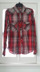 JAN SALE PRICE Men - LS - M - Red Plaid Shirt in St. Charles, Illinois