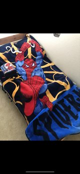 Spider-Man mink blanket and lunch bag and recycle bad in Colorado Springs, Colorado