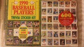 1990 Baseball Players Trivia Sticker Kit Trading Card Stickers in Fort Riley, Kansas