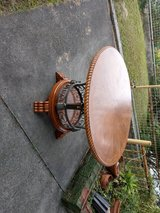 Round dining room table in Okinawa, Japan