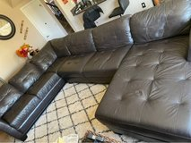 Macy's Milano leather sectional in Camp Pendleton, California