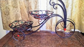 Wrought iron two stand plant holders (bicycle) in Warner Robins, Georgia