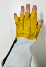 """Large 10"""" Cut Finger Tip Cow Split Leather Work Gloves - New! in Bolingbrook, Illinois"""