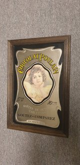 French Vintage Chocolate Ad Mirror in Ramstein, Germany