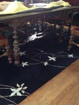 Vintage dining table in Yorkville, Illinois