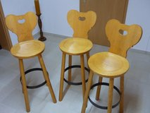 Wooden Bar Stools in Ramstein, Germany