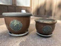 Ceramic planters in Alamogordo, New Mexico