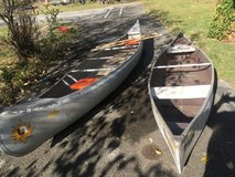 14' &  11' Canoes with paddles in St. Charles, Illinois