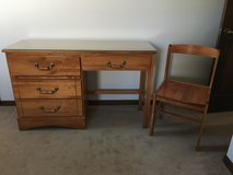 Wooden Desk and Chair in Naperville, Illinois