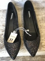 New Women's Merona Black Sparkly Flat Shoe-Size 11 in St. Charles, Illinois