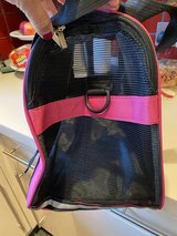 Pet carrier for a cat or small dog.  I used for my mini schnauzer in Lakenheath, UK