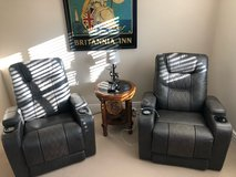 2 Power Leather Recliners Almost New in Lakenheath, UK