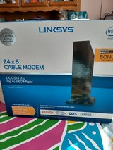 Linksys 24x8 cable modem DOCSIS 3.0 up to mbps in Warner Robins, Georgia