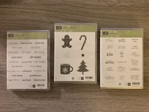 Stampin' Up Cling Stamps - 3 sets in Aurora, Illinois