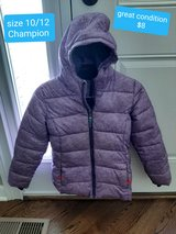 Girls size 10/12 great condition champion winter coat in Morris, Illinois