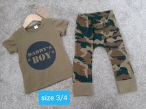 Boys size 3/4 brand new tags boutique outfit in Morris, Illinois