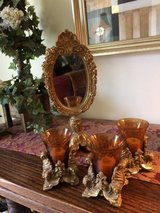 4 PIECE MATCHING SET 3 VOTIVE CANDLES AND MIRROR FOR BATHROOM OR BEDRO in Bartlett, Illinois
